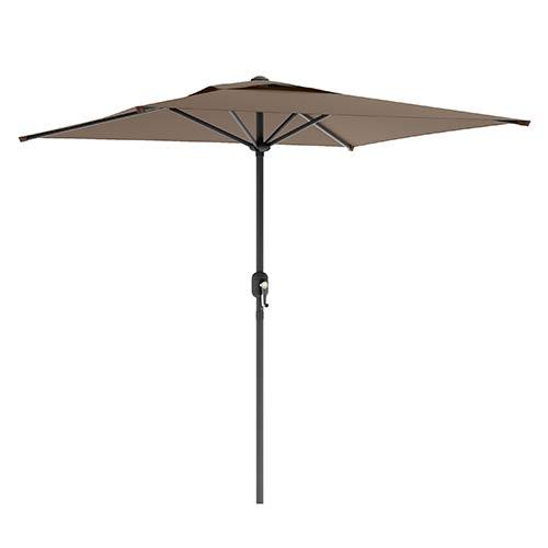Sandy Brown Square Outdoor Patio Umbrella
