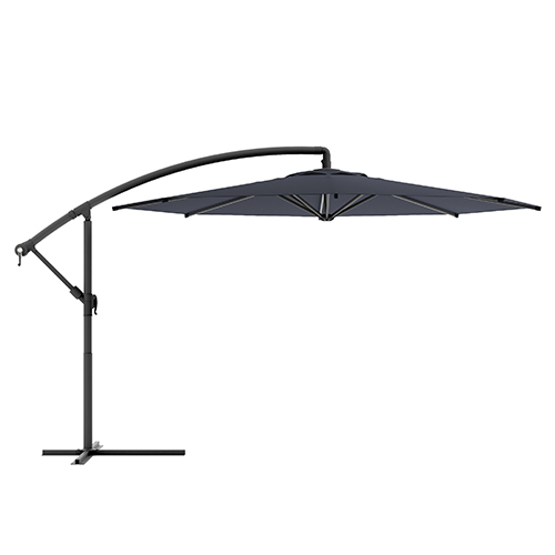 CorLiving Black Offset Outdoor Patio Umbrella