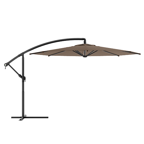 Sandy Brown Offset Outdoor Patio Umbrella