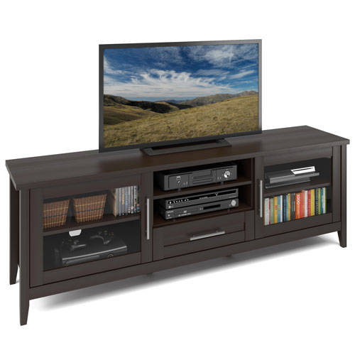 Jackson Extra Wide TV Bench in Espresso Finish, for TVs up to 80 Inches