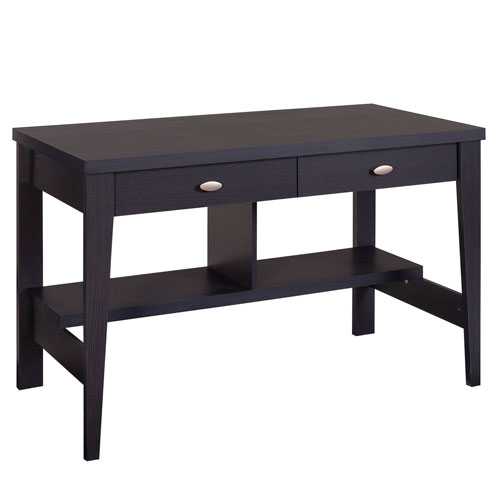 Folio Black Espresso Two Drawer Desk
