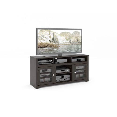 West Lake Mocha Black 60-Inch Television Bench