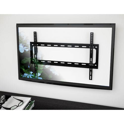 Sonax Black Fixed Flat Panel all Mount for 32-Inch - 55-Inch TVs up to 77lbs
