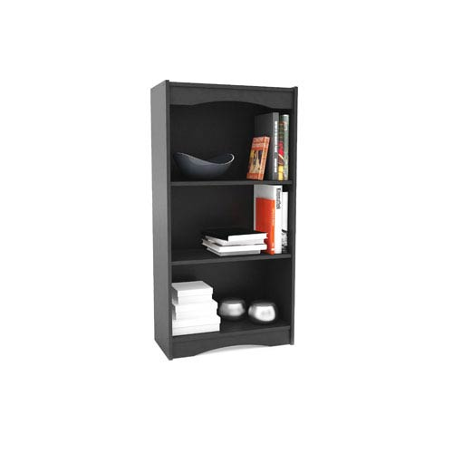 Hawthorn Midnight Black 48-Inch Tall Bookcase