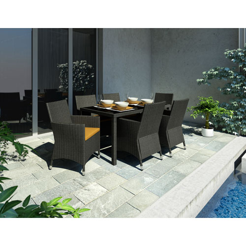 Sonax Park Terrace River Rock Black Weave Patio Furniture