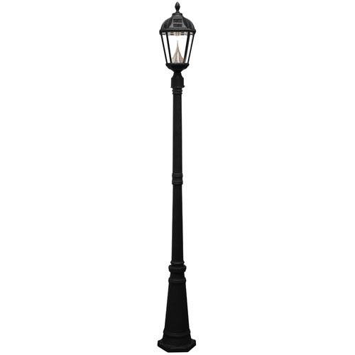 Royal Black 7-Light LED Lamp Post with Solar Post Mount