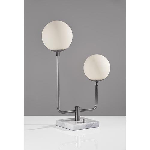 Asbury Brushed Steel Two-Light 220V LED Table Lamp