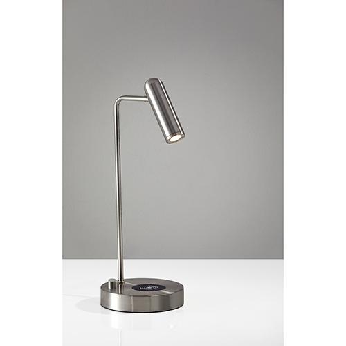 Kaye Brushed Steel 220V LED Desk Lamp