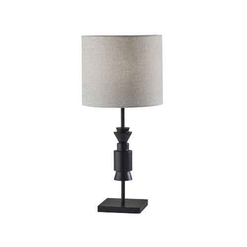 Elton Black Wooden Accent One-Light Table Lamp