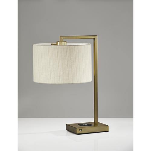 Austin Antique Brass One-Light Table Lamp