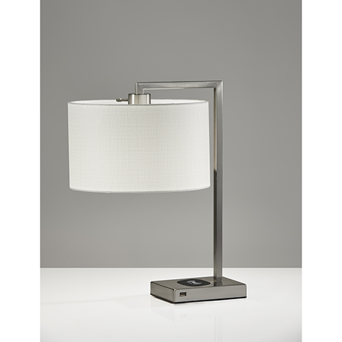Austin Brushed steel One-Light Table Lamp