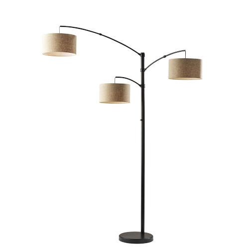 Cabo Dark Bronze Three-Light Floor Lamp