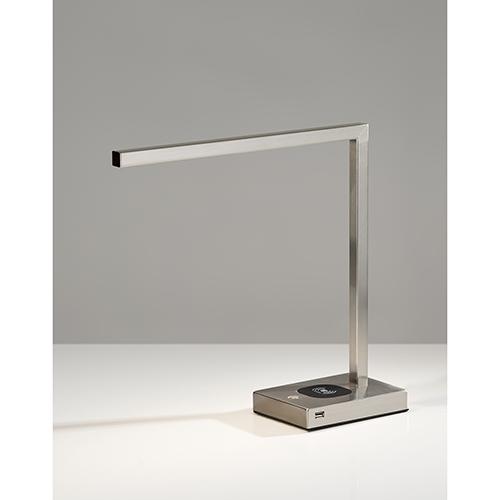 Aidan Brushed Steel 220V LED Desk Lamp