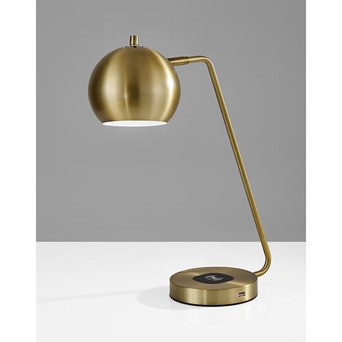 Emerson Antique Brass One-Light Desk Lamp