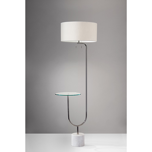 Adesso Sloan Polished Nickel Two-Light Floor Lamp