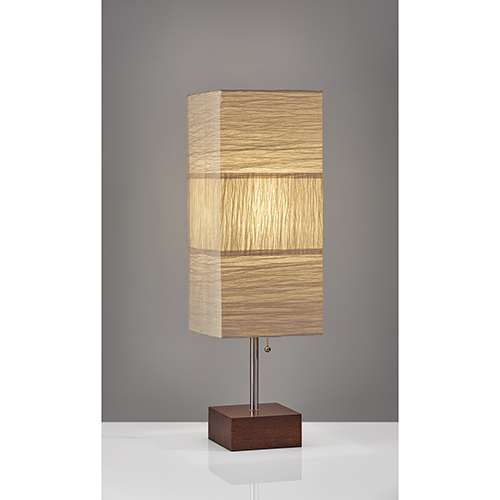 Adesso Sahara Brushed Steel One-Light Table Lamp