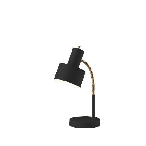 Stark Black and Antique Brass One-Light Desk Lamp