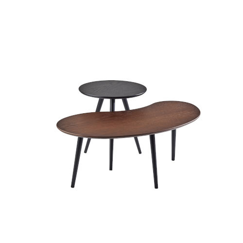 Gilmour Black and Walnut Nesting Table