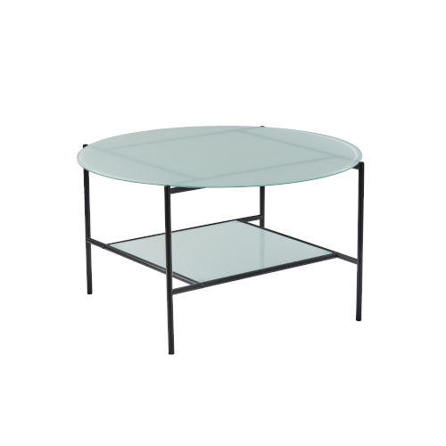 Stephen Black and White Two-Tiered Coffee Table