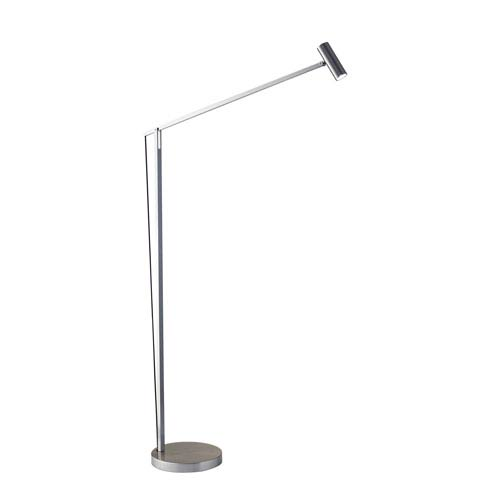 Crane Brushed Steel LED Floor Lamp