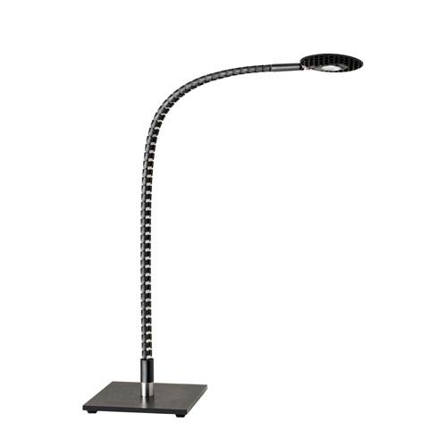 Natrix Black and Brushed Steel LED Desk Lamp