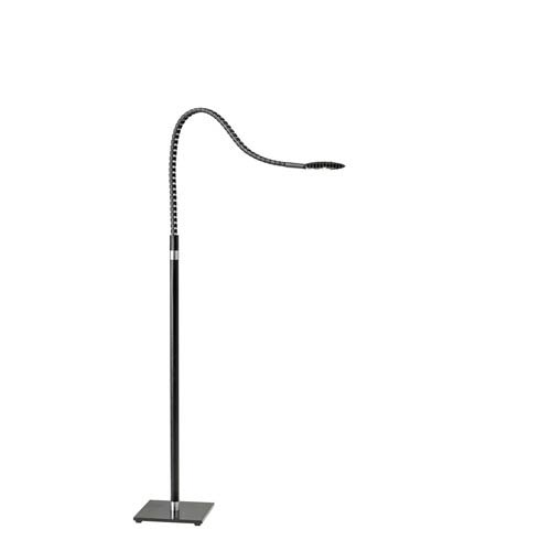 Natrix Black and Brushed Steel LED Floor Lamp