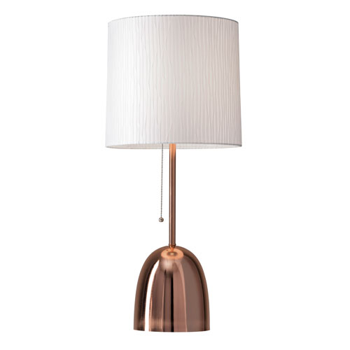 Lola Brushed Copper One-Light Table Lamp