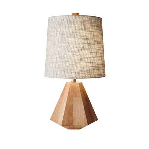 Adesso Grayson Natural Birch Wood One Light Table Lamp
