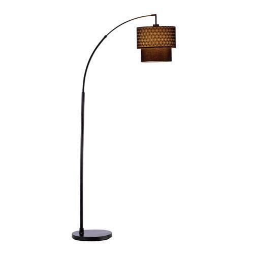Adesso Gala Black Arc Lamp