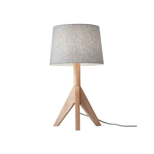Adesso Eden Natural Ash Wood One Light Table Lamp