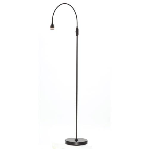 Adesso Prospect Matte Black One-Light LED Floor Lamp
