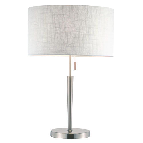 Adesso Hayworth Brushed Steel One-Light Table Lamp
