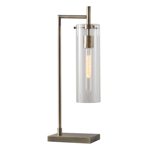 Adesso Dalton Antique Brass One-Light Table Lamp