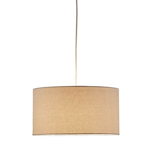 Harvest Drum Pendant w/Natural Linen Shade