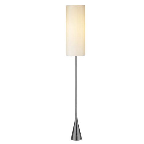 Bell shaded floor lamp bellacor adesso bella black nickel one light floor lamp with white fabric shade aloadofball Gallery