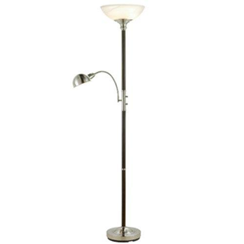 Adesso Lexington Walnut Combo Floor Lamp 4052 15 Bellacor