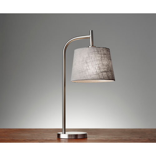 Blake Brushed Steel One-Light Table Lamp