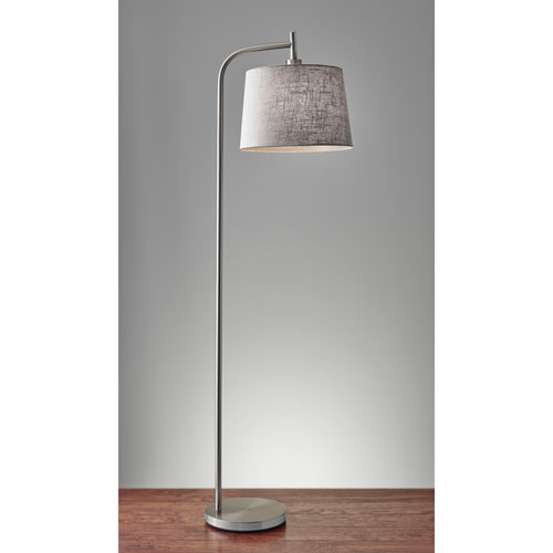 Blake Brushed Steel One-Light Floor Lamp