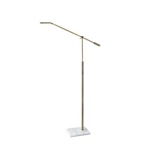 Vera Antique Brass LED One-Light Floor Lamp