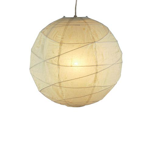 Orb Natural Tan One-Light Small Globe Pendant