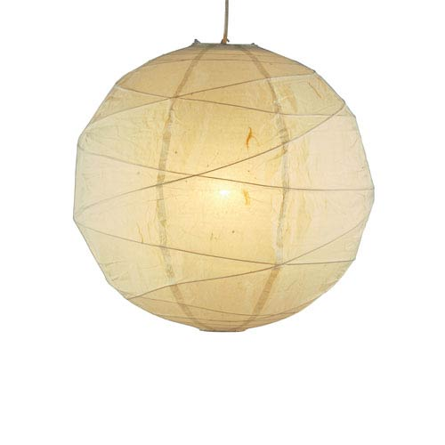 Adesso Orb Natural Tan One-Light Medium Globe Pendant
