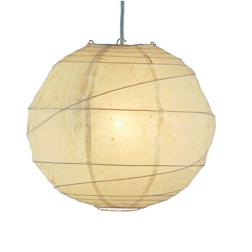 Orb Natural Tan One-Light Large Globe Pendant