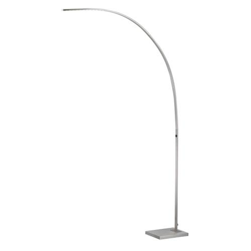 Sonic Brushed Steel One-Light LED Arc Lamp