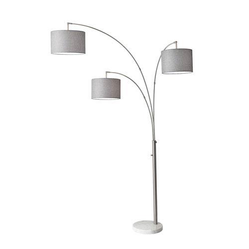 Adesso Goliath Arc Lamp Linen 5098 22 Bellacor