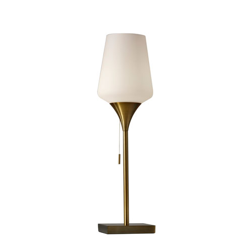 Roxy Antique Brass One-Light Table Lamp