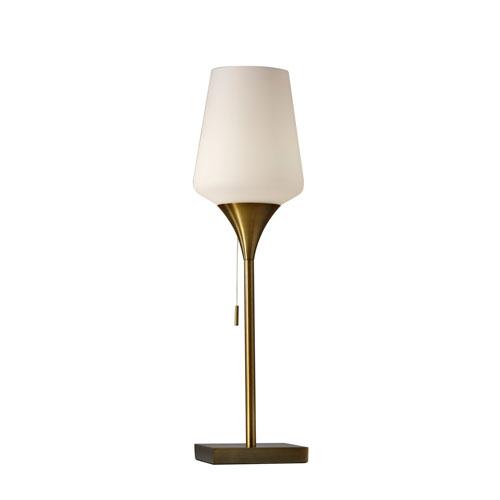 Antique Brass Square Lamp Bellacor