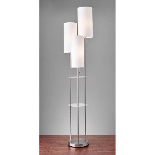 Adesso Trio Brushed Steel Three Light Floor Lamp 4305 22