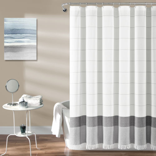 Gray 72 x 72 In. Single Shower Curtain