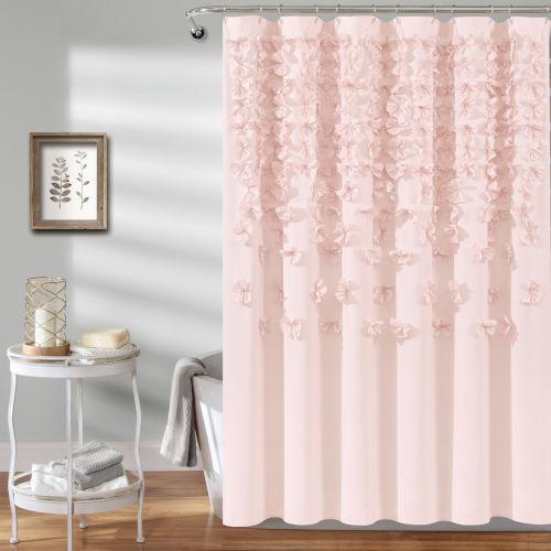 Lucia Blush 72 x 72 In. Single Shower Curtain