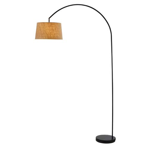 Adesso Goliath Arc Lamp - Burlap